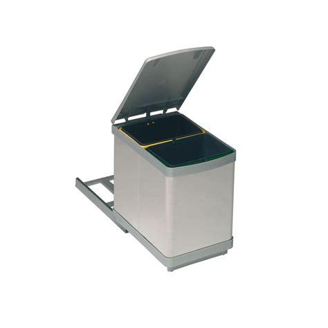 poubelle de cuisine coulissante poubelle bacs 15l inox ilovedetails com