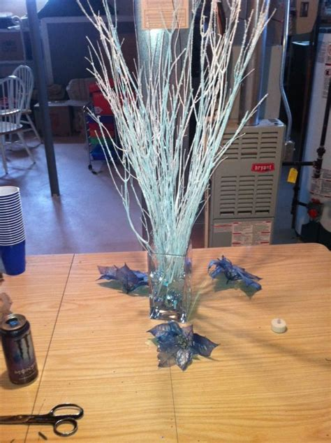 Winter Wedding Centerpiece Wedding Blue Centerpieces