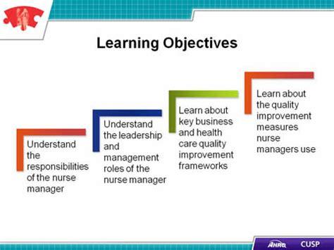 cusp toolkit  role   nurse manager facilitator