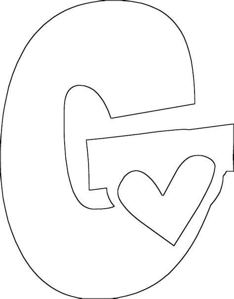 Coloring Letter G by Letter G Coloring Page