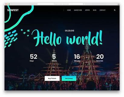 Website Templates Event Entertainment Sunfest Template Colorlib