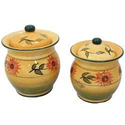 sunflower canister sets kitchen sunflower garden collection handcrafted 4 kitchen