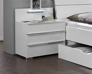 Bett Mit Ablagefläche : nachttisch mit schubladen und led beleuchtung salford ~ Sanjose-hotels-ca.com Haus und Dekorationen