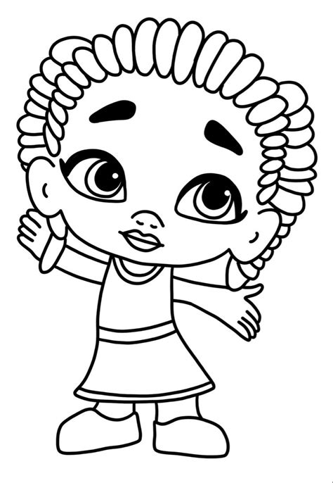 Zoe from Super Monsters Coloring Page Free Printable