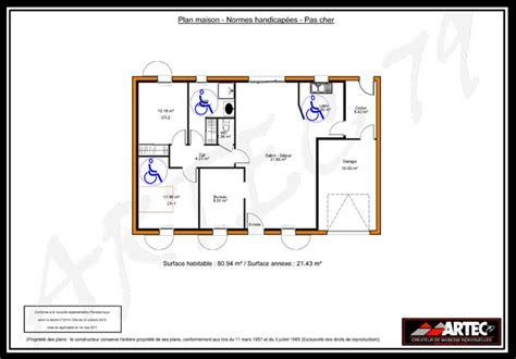 chambre handicapé plan maison handicape