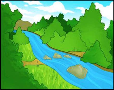 Super Mudah Menggambar Pemandangan Sungai Belajar