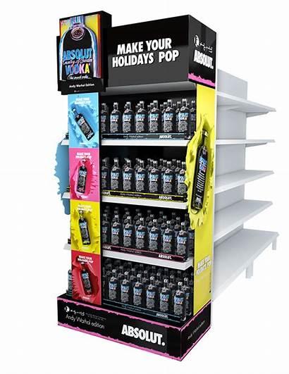 Display Behance Absolut Displays Warhol Wine Pop