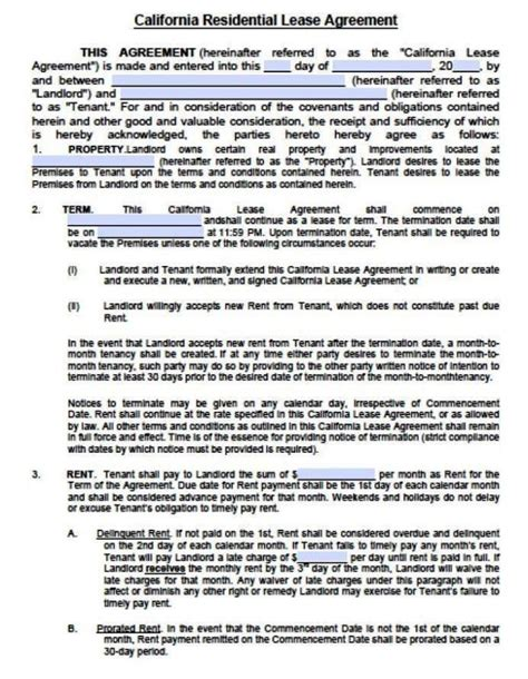 12 Month Lease Agreement Template Sampletemplatess