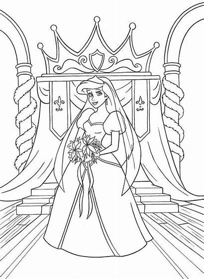 Ariel Disney Coloring Walt Character Princess Characters