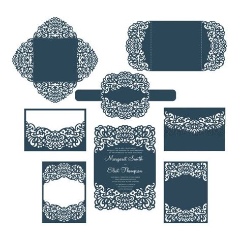 cricut templates 91 best images about laser cut wedding invitations on pocket envelopes silhouette