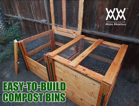 compost bin  limited tools