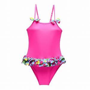 Daxon Maillot De Bain : maillot de bain enfant fuchsia froufrous femme pas chere ~ Melissatoandfro.com Idées de Décoration