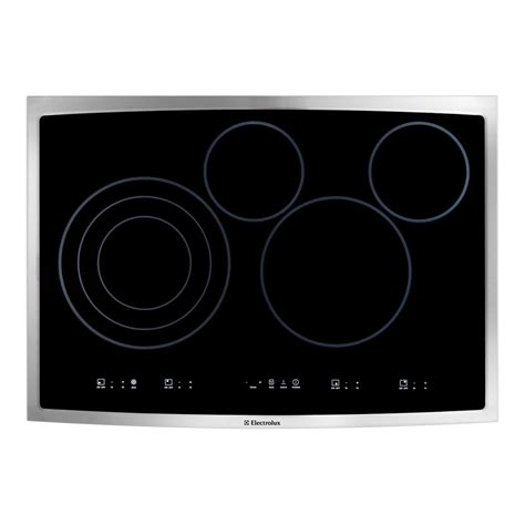 30 inch electric cooktop electrolux 30 inch smooth surface electric cooktop in