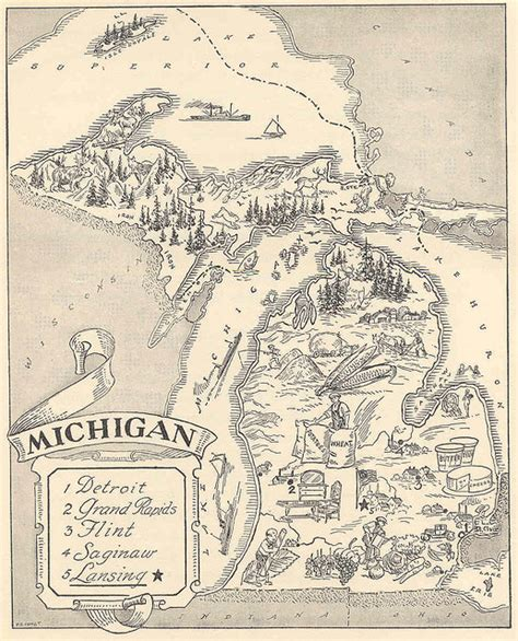Damn Arbor: Another old map of Michigan