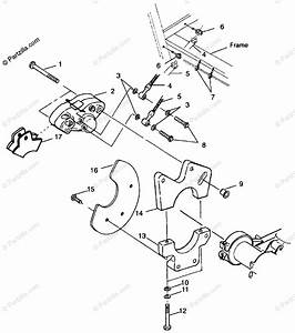 Polaris Atv 1999 Oem Parts Diagram For Rear Caliper