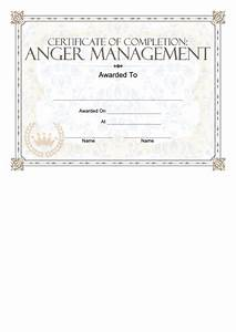 anger management certificate printable pdf download With anger management certificate template