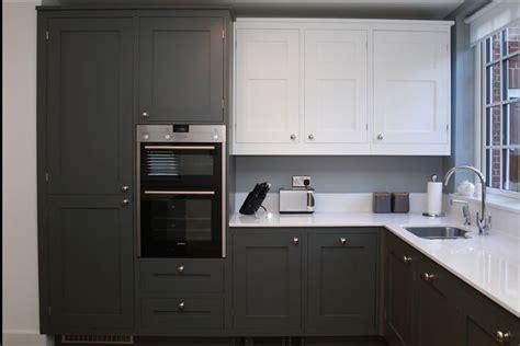 optiplan kitchen painted battleship grey base units