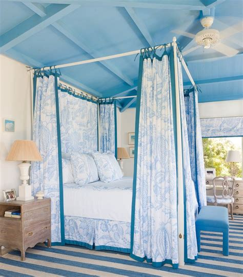 Bedroom Canopy by Gary Mcbournie Tropical Bedroom Blue Canopy Bed Ceiling
