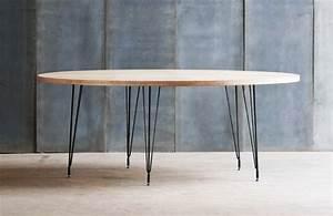 Table Ronde Bois Metal : belle table ronde en bois et m tal tango au design moderne pour votre salle manger ~ Teatrodelosmanantiales.com Idées de Décoration