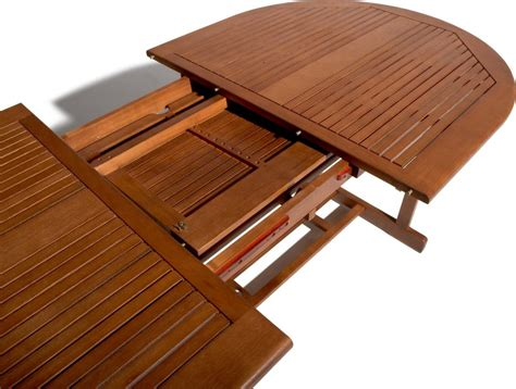 Patio Tables With Umbrella Hole by Strathwood Sheffield Hardwood Oval Expandable Table