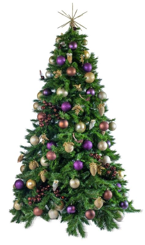 woodland artificial decorated christmas tree hire