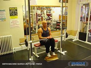 Smith Machine Seated Calf Raise  Video Exercise Guide  U0026 Tips