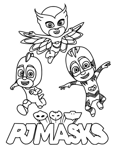 pj masks coloring pages getcoloringpagescom