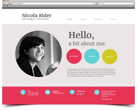 Resume Website Free by Wix Template Create Your Own Digital Resume Portfolio