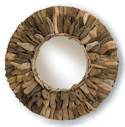 driftwood mirror bonita rustic round driftwood 33 quot d mirror kathy kuo home