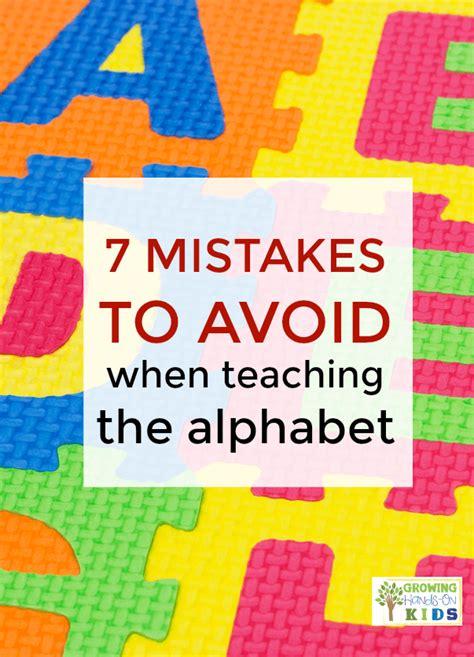 7 mistakes to avoid when teaching the alphabet to your 529 | 7 Mistakes Avoid When Teaching the Alphabet PIN