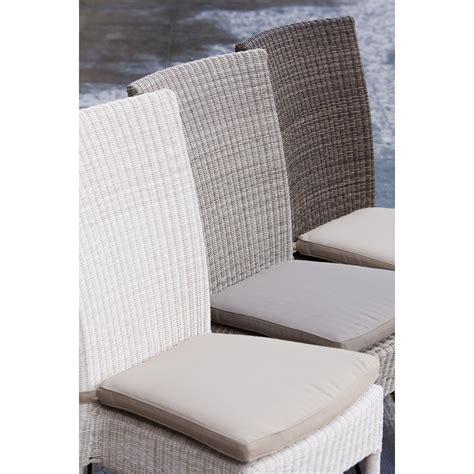 coussin de chaise déhoussable coussin chaise en résine isabelle coloris gris