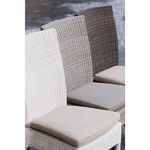 Coussin De Chaises : coussin chaise en r sine isabelle coloris gris ~ Teatrodelosmanantiales.com Idées de Décoration