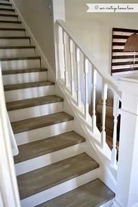 Deco Marche Escalier : inspiration pour r nover notre escalier rampe et contre marches en blanc et marches en gris ~ Teatrodelosmanantiales.com Idées de Décoration