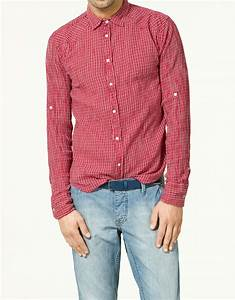 Zara Checked Cheesecloth Shirt in Red for Men | Lyst
