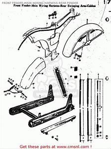 Suzuki M15 M15d M12 1968 Usa  E03  Front Fender