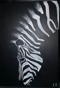 Peinture En Noir Et Blanc : tableau peinture zebre noir blanc animaux acrylique zebre dans la p nombre deco peinture ~ Melissatoandfro.com Idées de Décoration