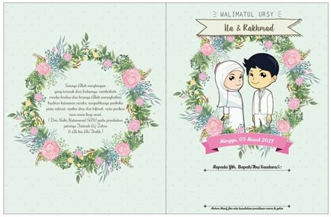 undangan pernikahan kartun  royal wedding organizer