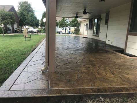 Patio Restoration  Before And After  E & J Concrete And