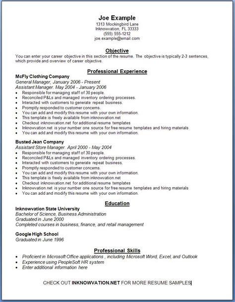resume samples  sample resumes