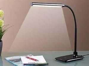 Tischlampe Led Dimmbar : lunartec tischleuchten dimmbare led schreibtischlampe 6 w mit schwanenhals schwarz led ~ Whattoseeinmadrid.com Haus und Dekorationen