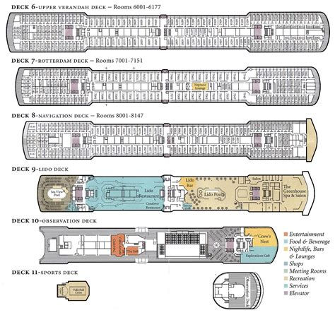 Prinsendam Deck Plan 2014 by Ms Oosterdam Deck Plan