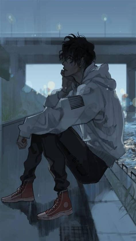 Boy Depression Anime Wallpapers Wallpaper Cave