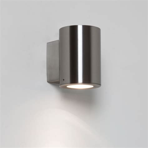 astro 7571 detroit ip44 exterior wall light brushed stainless steel