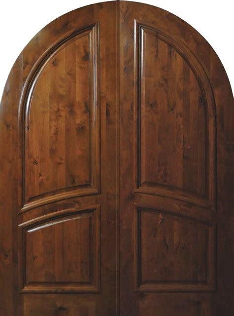 slab front double door  wood knotty alder  panel