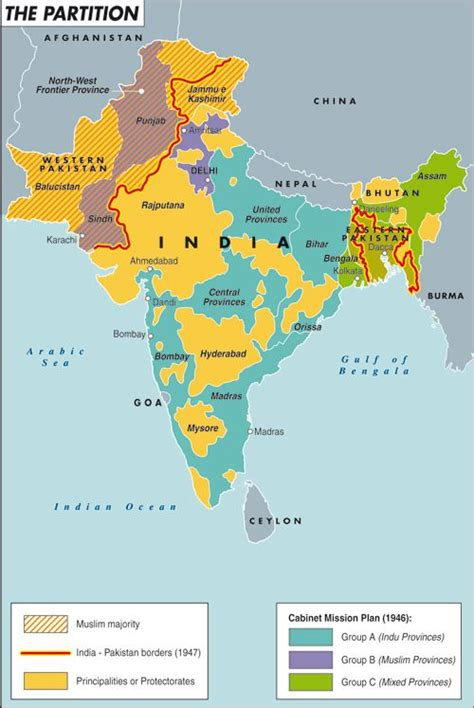 partition mind strange obsessions india map
