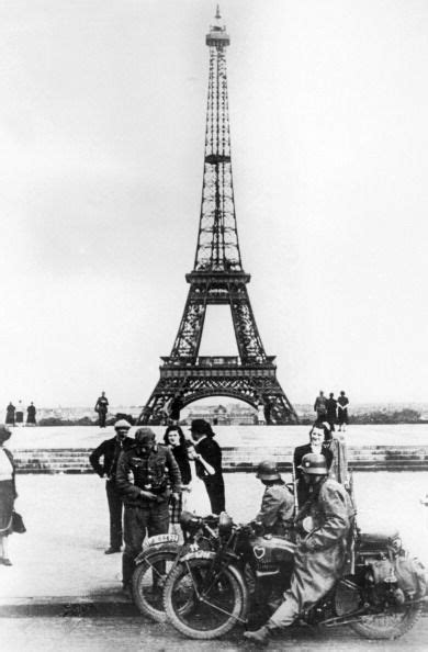 German Soldiers In Front Of The Eiffel Tower, Paris, 1940