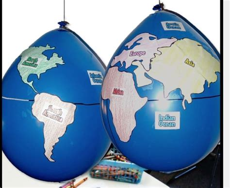 construct  globe depicting   hemispheres
