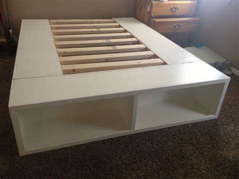 build a bed huntsman diy storage bed