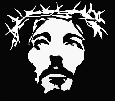 Abstract Jesus Black And White by Paintings Stencils Jesus Jesus