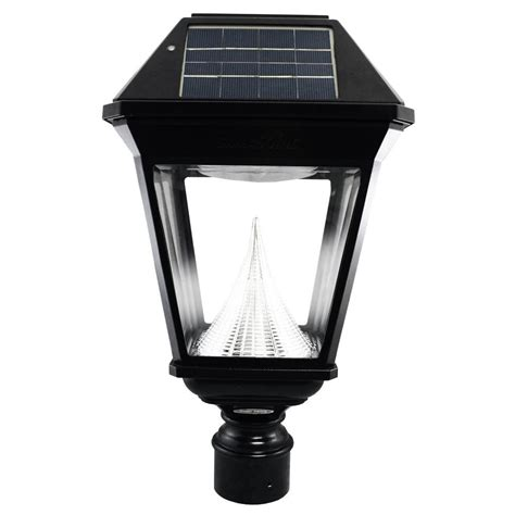 gama sonic solar powered l post gama sonic imperial ii solar black outdoor integrated led